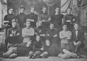 The 1912 Mulerider football team with Coach George Ruford Turrentine in coat and tie photo