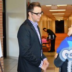 Alum Joel Parrish from the Wal-Mart Home Office at the 2013 Fall Career Fair