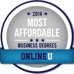 OnlineU.org Most Affordable Online Business Degree Badge