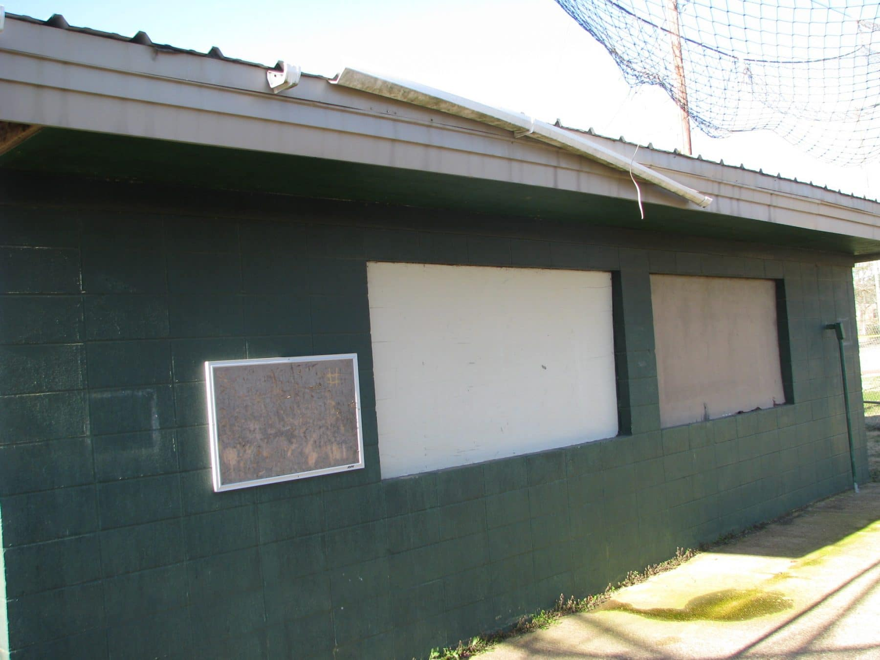 A picture of the old concession stand SIFE will remodel for Boys  Girls Club of Magnolia. Photo credit Bianca White