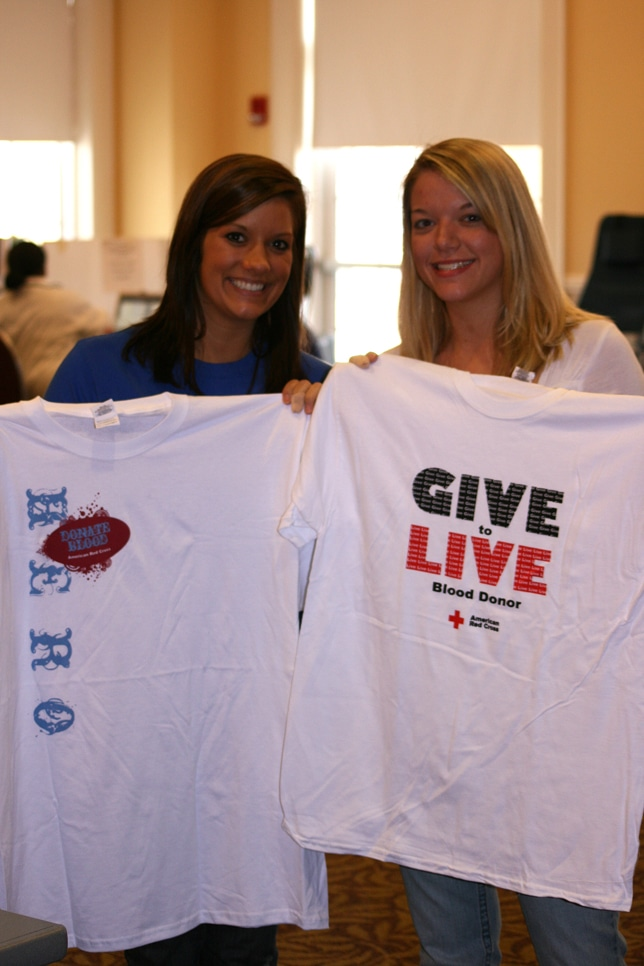 Blood drive tshirts