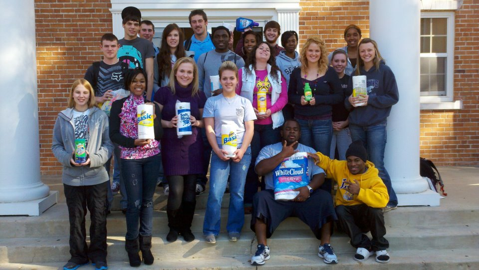 general psych students collected items for womens crisis center of south arkansas 2011