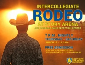 Intercollegiate rodeo at Story Arena and Farmer's Bank Reception Center