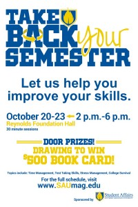Take Back Your Semester @ Foundation Hall, Reynolds Center