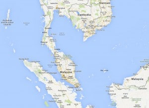 Malaysia map courtesy of Google Maps