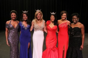 Pictured, from left, Sierra Lites, Miss SAU 2014 Randee Jo Langley, Miss Arkansas 2013 Amy Crain, Miss SAU 2013 Ashley Walthall, Sarah Clayton and Chelsa King.