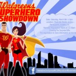 Superhero showdown promo card