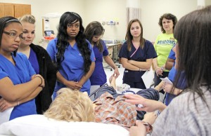 SAU Nursing demos sim lab to high schoolers