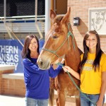 Muleriders Megan Maye (Left) and Payton Baird