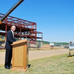 The Science Center's topping ceremony