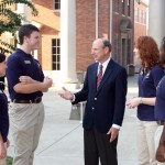 Students on campus get one-on-one time with the school president