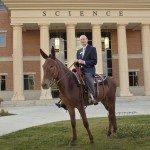 Dr. Rankin flexes his spurs as a mulerider