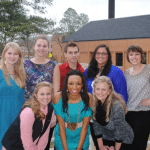 2012-2013 Executive Board (front row from left) Jordan McAd-ams, Karrah Clark, Michelle Taylor, (back row from left) Lane Bauman, Ambrosia Caruso, Dustin Carter, Whitley Hill, and Megan Black.