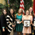 The Student Nurses' Association receives the 2013 Organization of the Year Award at the 18th Annual Leadership Recognition and Awards Banquet.