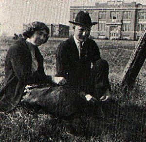 Photo: A Sunday date to walk about campus in 1922 at the Third District Agricultural School. Courtesy of Southern Arkansas University Archives, Magnolia, Arkansas.