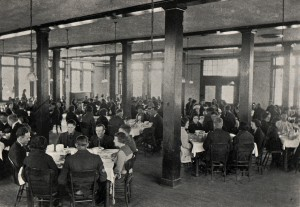 Photo: A meal at the Dining Hall in 1922. Courtesy of Southern Arkansas University Archives, Magnolia, Arkansas.