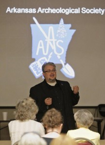 Dr. Brandon gives a talk