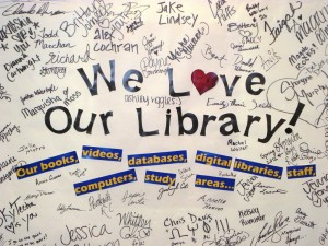 Photo: We Love Our Library 2012 Banner