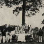 May Queen and Court at the Lone Pine Tree in 1929. SAU Archives. photo