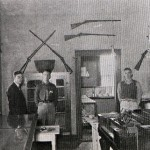 Samuel Dickinson and NYA Student Assistants at Museum photo