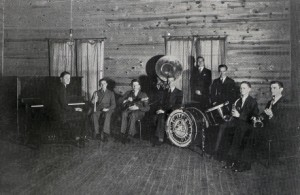 The Varsitonians, a student dance band, at the Clubhouse 1937 photo