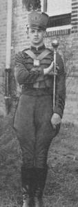 A&M Band Drum Major Harry Crumpler, 1933-34 photo