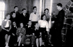 President Burt Holmes addressing Student Council, 1939-40 photo