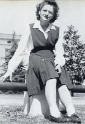 Carolyn Tyndal, student council president, 1944-45 photo