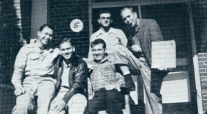 Veterans at Holt Hall in 1946 photo
