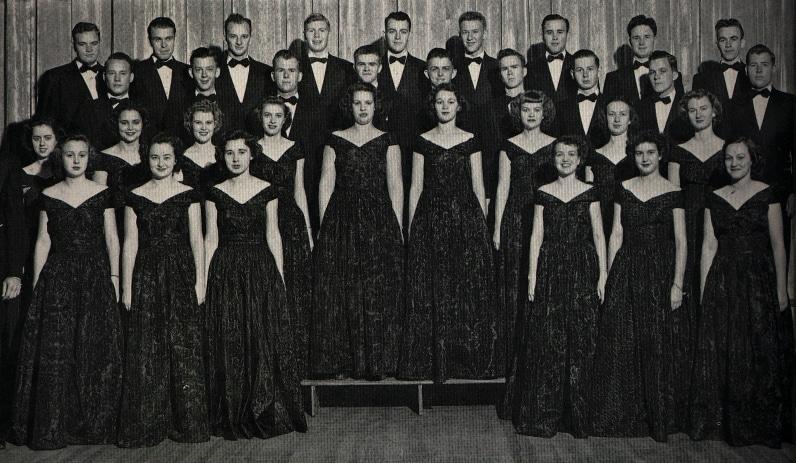 The A Capella Choir of 1949-50 photo