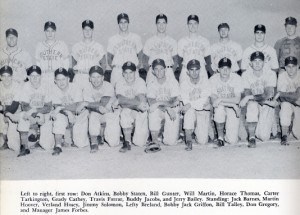 1954 Baseball Team photo