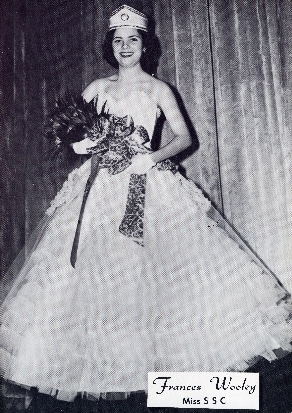 Frances Wooley, the First Miss SSC, in 1956 photo