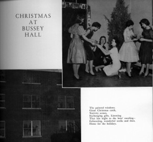 Decorated Windows and Tree at Bussey Hall photo