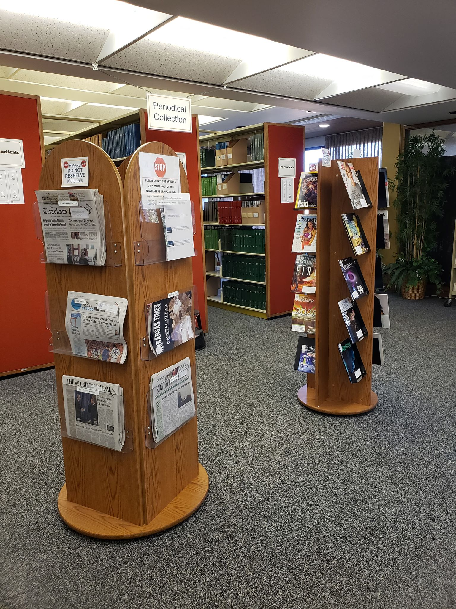 Photograph of Magazine and Newspaper Collection