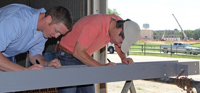 Final beam to be installed for Agriculture Center