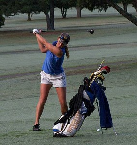 Whitley Patterson golfing for SAU