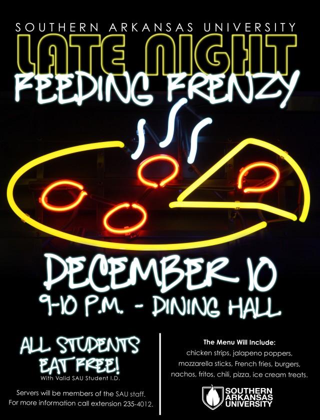 Late Night Feeding Frenzy Tuesday, Dec. 10
