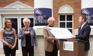 Fincher Hall project presents check