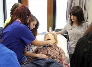 SAU Nursing demos sim lab to high schoolers