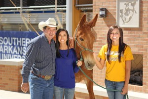 Rusty Hayes with Megan Maye, Molly Ann, and Payton Baird.