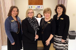 The newly founded SAU Nursing Leadership Council consists of Dr. Heather McKnight, Chair of Nursing Department Dr. Brenda Trigg, Dr. Pamela DeGravelles and Becky Parnell.