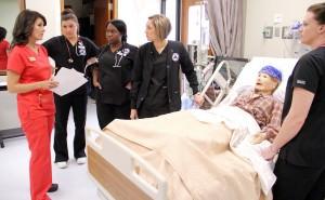 SAU Nursing Ginger Covington in Sim Lab