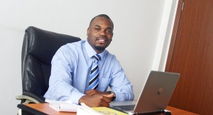 Glenn Muffih of SAU in Cameroon office