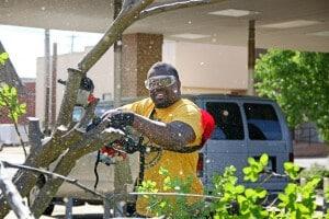 Glenn Muffih volunteering with Making Magnolia Blossom