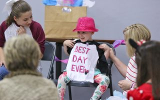 3-year-old cancer survivor Kaylynn Sands gets her wish granted