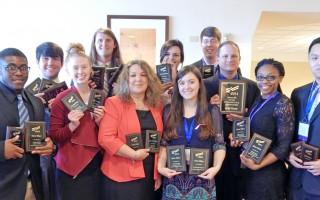 SAU students win 21 awards at PBL Conference
