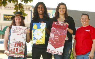 SAU students' designs to promote Magnolia