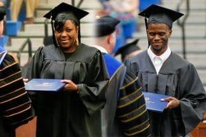 Carla and Darryl Webb graduating