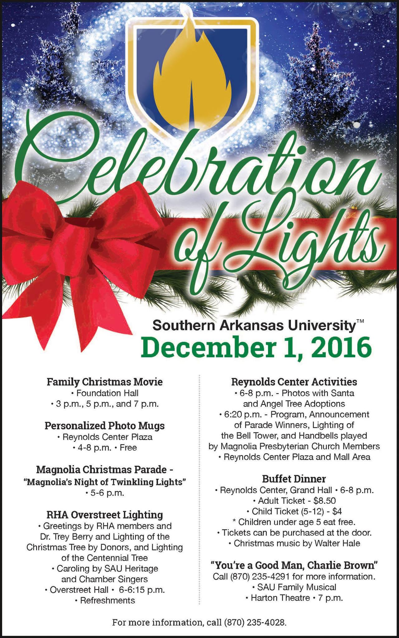 SAU to usher in the Christmas season with Celebration of Lights Dec ...