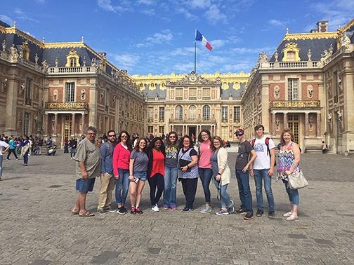 sau tour group enjoys splendor of paris france news